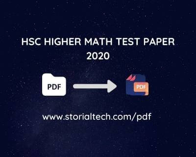 HSC HIGHER MATH TEST PAPER-2020(ONLY 2019,2018 ALL BOARD QUESTION AND SOLVE)