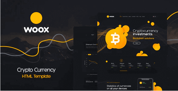 WOOX CRYPTO V2.0 - ICO,Coins and Cryptocurrency HTML Website Template
