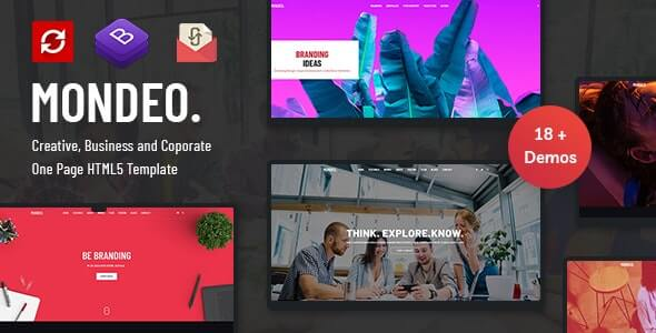 Mondeo v1.0 - One Page Creative Marketing HTML Template