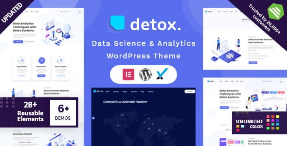 Detox v1.7 - Data Science & Analytics WordPress Theme