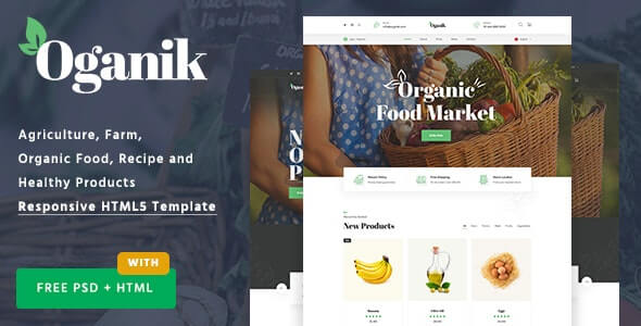 Oganik v1.0 - HTML Template For Organic Food Products & Agriculture Farm