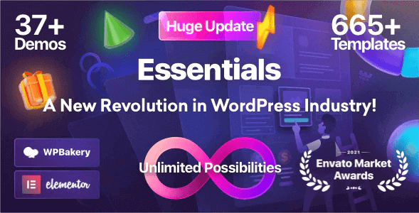 Essentials v2.0.0 - Multipurpose WordPress Theme