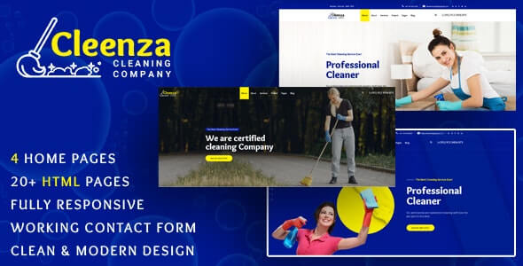 Cleenza v1.0 - Cleaning Service HTML Template