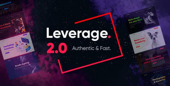 Leverage v2.0.9 - Creative Agency & Portfolio WordPress Theme