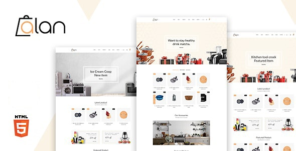 ALAN V1.0 - Kitchen Accessories Bootstrap 5 HTML Template