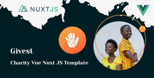 Givest v1.0 - Charity & Fundraising Vue Nuxt JS Template