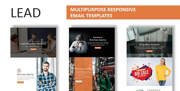 Lead v1.0 - Multipurpose Responsive Email Template With Online StampReady Builder Access