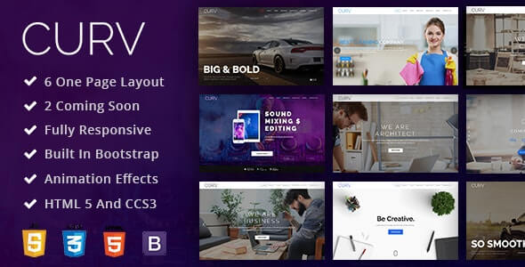 CURV v1.0 - One Page Multipurpose Parallax