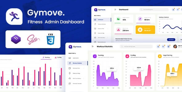 Gymove v1.0 - Fitness Admin Dashboard Bootstrap HTML Template