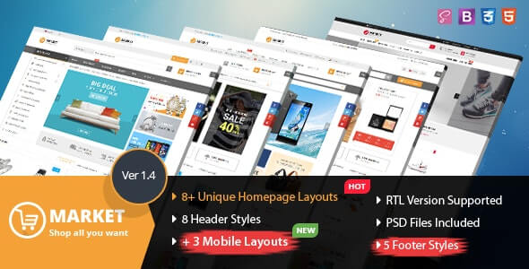 Market v1.4 - Multipurpose eCommerce HTML Template