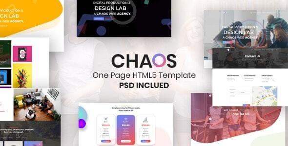 Chaos v1.0 - Creative Parallax One Page HTML5 Template