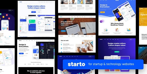 Starto  - Saas Software Startup WordPress v1.7.2