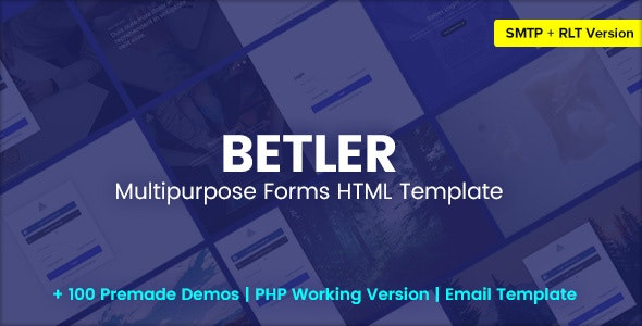 Betler v1.0 - Multipurpose Forms HTML Template