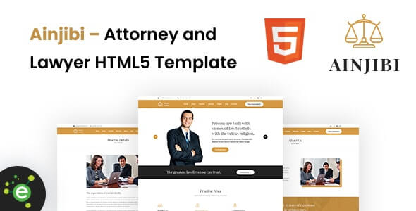 Ainjibi v1.0 – Attorney and Lawyer HTML5 Template