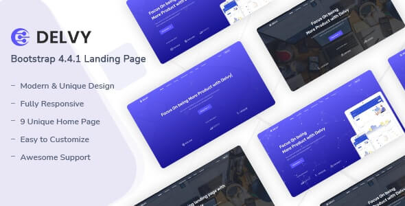 Delvy v1.0 - Responsive Landing Page Template