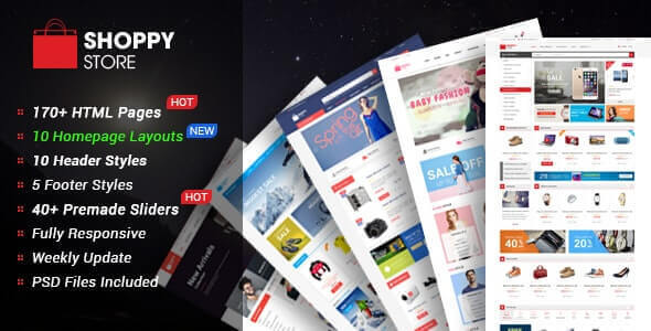 ShoppyStore v1.0.0 - Multipurpose eCommerce HTML5 Template