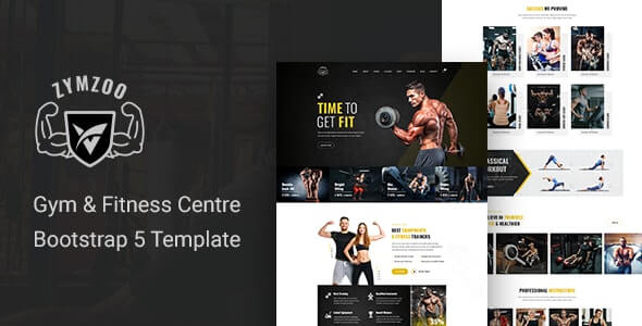 Zymzoo v1.0 - Gym & Fitness Centre Bootstrap 5 Template