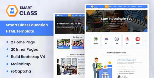 SmartClass v1.0 - Education Agency Coaching & Tuition HTML Template
