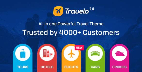 Travelo v4.2.3 - Travel/Tour Booking Wordpress Theme