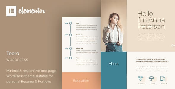 Teoro v1.0 - CV Resume WordPress Theme