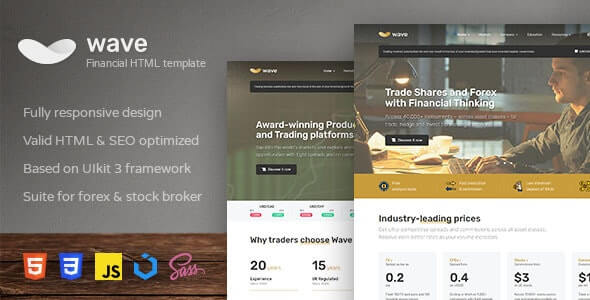 Wave v1.1.0 - Finance and Investment HTML Template