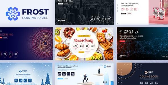 Frost v1.1 - Coming Soon, Under Construction Bootstrap 4 Template