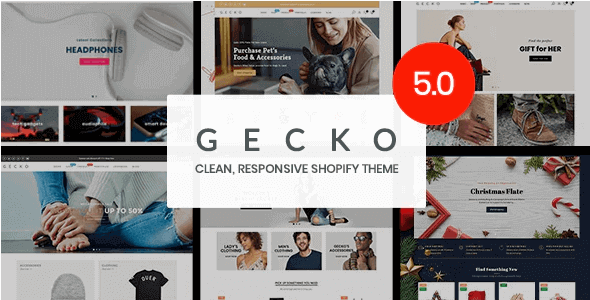 Gecko 5.5.1 - Responsive Shopify Theme - RTL support
