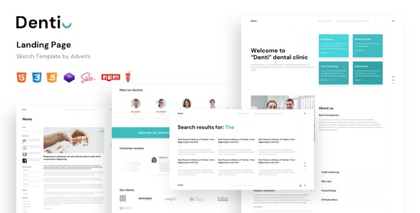 DENTI V1.0 - Landing page HTML Template