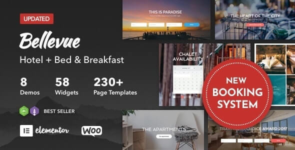 Bellevue v3.3 - Hotel + Bed and Breakfast Booking Calendar Theme