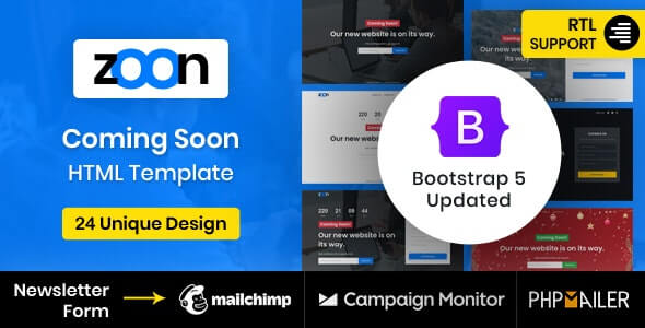 Zoon v2.0 - Coming Soon Template