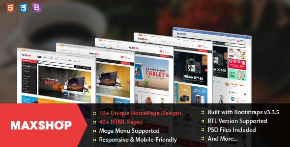 Maxshop v1.1.0 - Responsive & Multi-Purpose eCommerce HTML Template