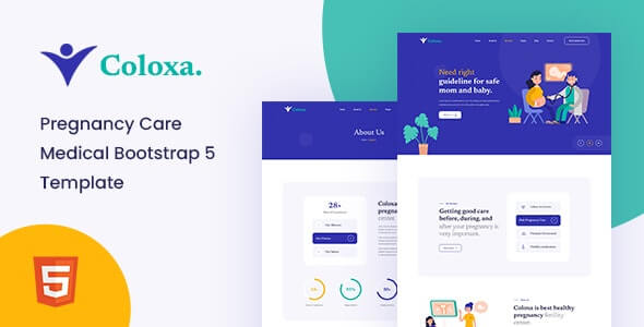 Coloxa v1.0 - Pregnancy Care Medical Bootstrap 5 Template