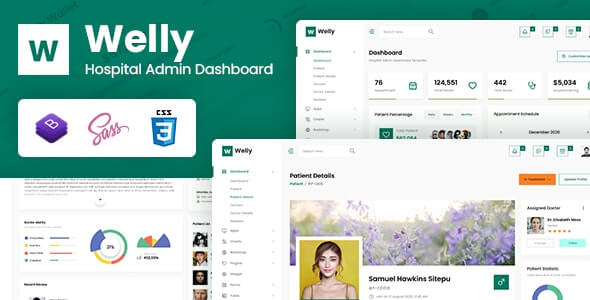 Welly v1.0 - Hospital Admin Dashboard Bootstrap HTML Template