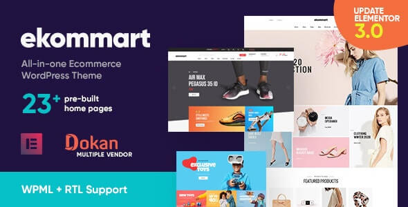 ekommart v3.5.3 - All-in-one eCommerce WordPress Theme