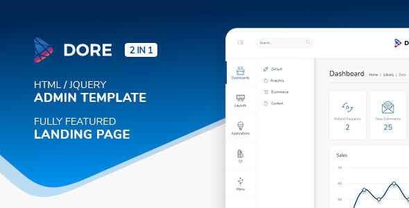 Dore v2.4.0 - Html jQuery Admin Template & Landing Page