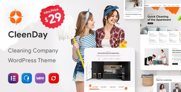 CleenDay v1.0.1 - Cleaning Company WordPress Theme