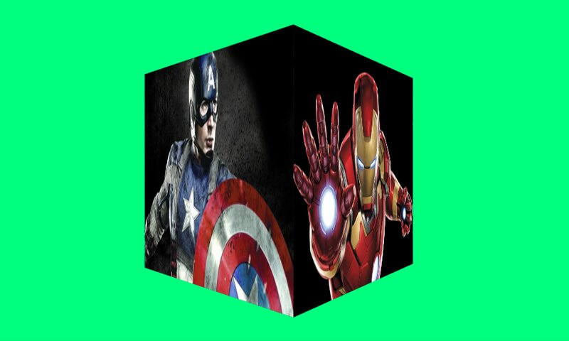Create 3d Rotating Cube with Images