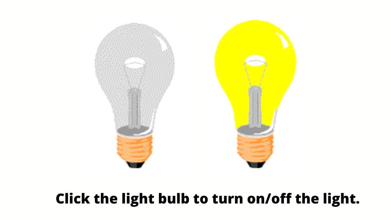 JavaScript light on and off code