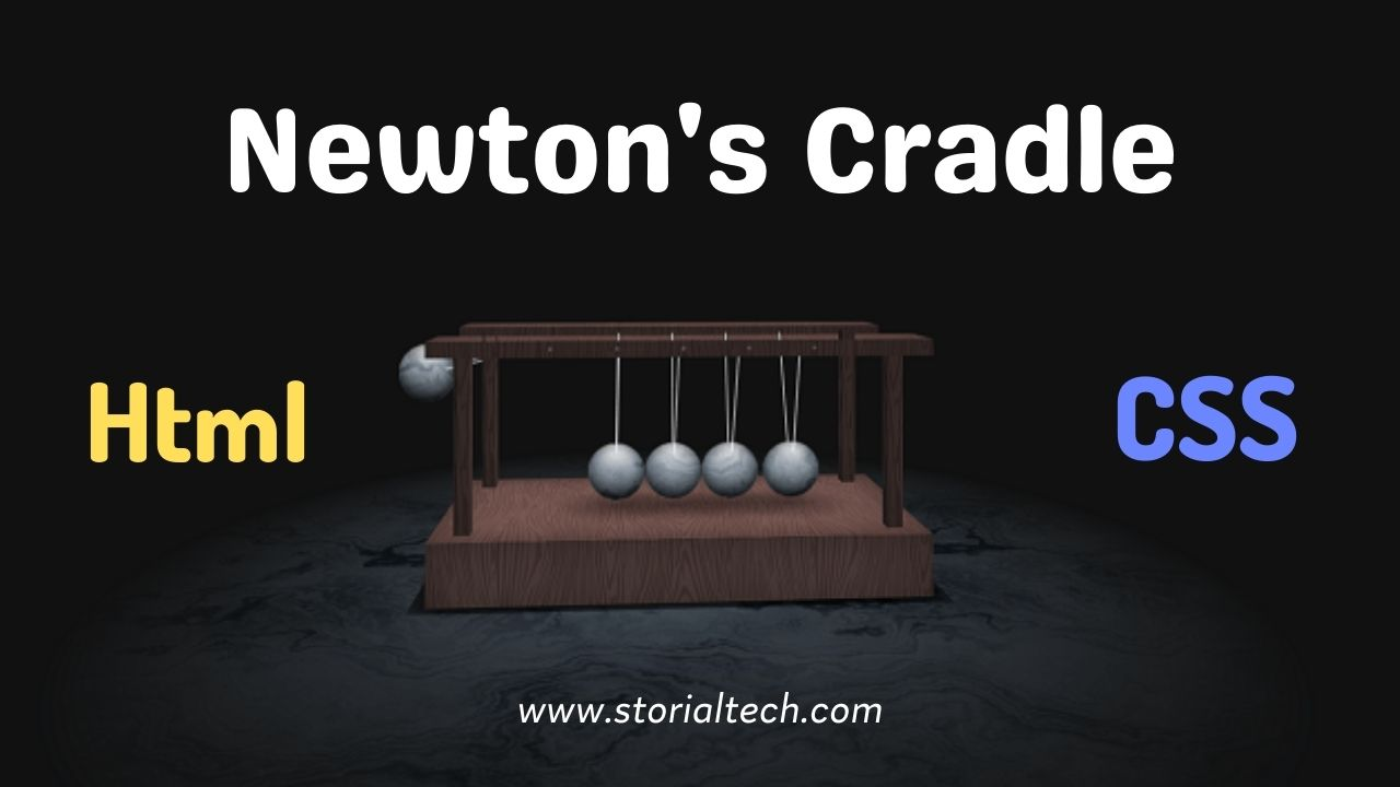 Newton's Cradle Animated Design With Html & CSS